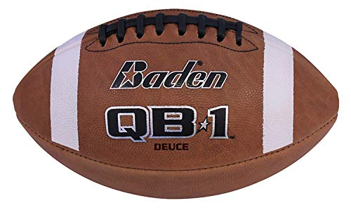 Baden QB1 Deuce Leather Game Football (Official Size) ()