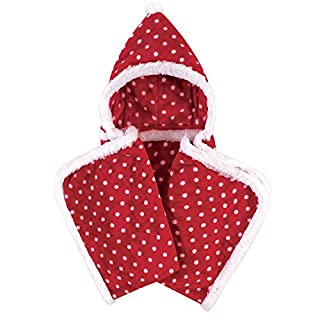 Hudson Baby Unisex Baby and Toddler Hooded Animal Face Plush Blanket, Red Polka Dot, One Size