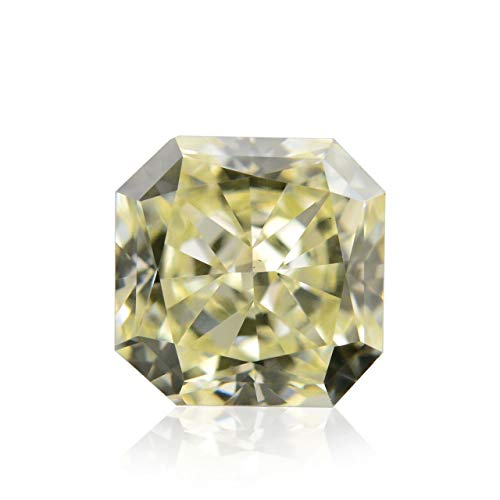 0.58Cts V-W, Light Yellow Loose Diamond Natural Color Radiant Cut IGI Certified