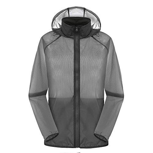 Unie Homme Sport Abbigliamento Veste Adelina Imperméable Hommes Grau De À Section Vêtements Couleur Summer Capuche Pour 88YXqF