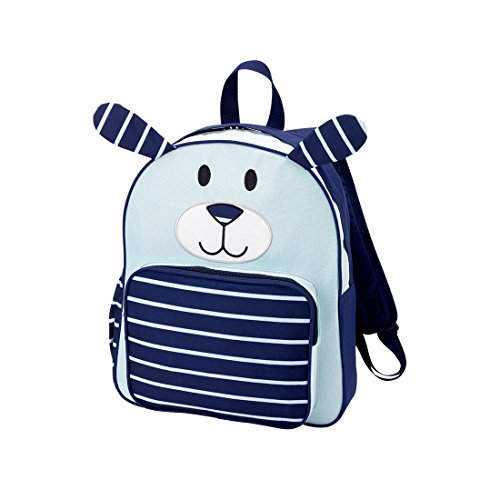 Custom Personalized Adorable Puppy Dog Preschool Backpack (Blue Puppy - No - Boutique Custom Monogram
