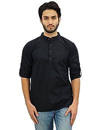 Atasi Ethnic Men's Short Kurta Mandarin Collar Cotton Shirt