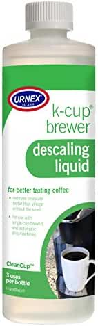 Urnex CleanCup Descaling Solution for Keurig K-Cup Machines, 3 uses per bottle (packaging may vary)