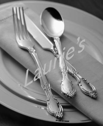 Plastic Silver SPOONS China Like Baroque 20ct