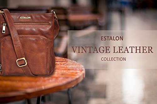 Crossbody Bags for Women - Real Leather Small Vintage Adjustable Shoulder Bag