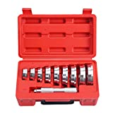 Wadoy Bearing Race and Seal Driver Set with Carrying Case-Universal Kit Compatible with Automotive Wheel Bearings 10 Pieces