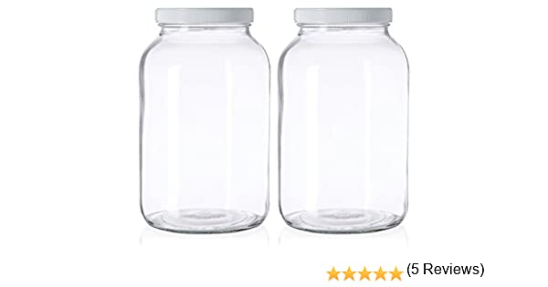 Paksh Novelty 1 Gallon Glass Jar Wide Mouth With Airtight Metal Lid