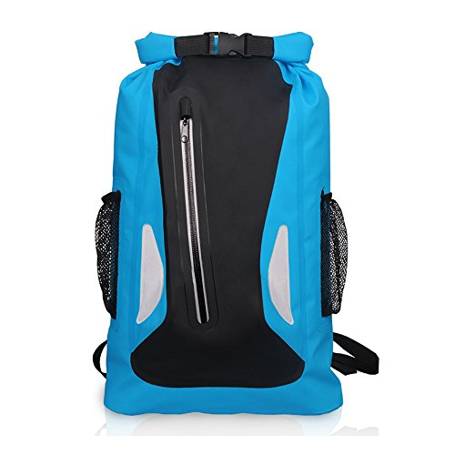 Doris Boutique us - Waterproof Bag Dry Bag Two Additional Pockets Backpack for Kayaking, Beach, Rafting, Boating, Hiking, Camping, Fishing and Outdoors (Sky Blue)