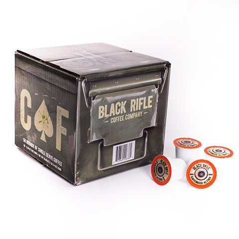 Black Rifle Coffee Company CAF Caffeinated AF Single Serve Capsules, for Keurig K-Cup Brewers (50 Count)