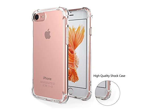 iPhone 7 Case, ICESMART Crystal Clear TPU Back ...