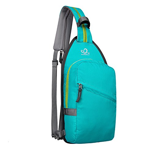 WATERFLY Dual Sling Bag Lightweight Crossbody Sling Backpack Convertible Daypacks for Man Women Lady Girl Teens