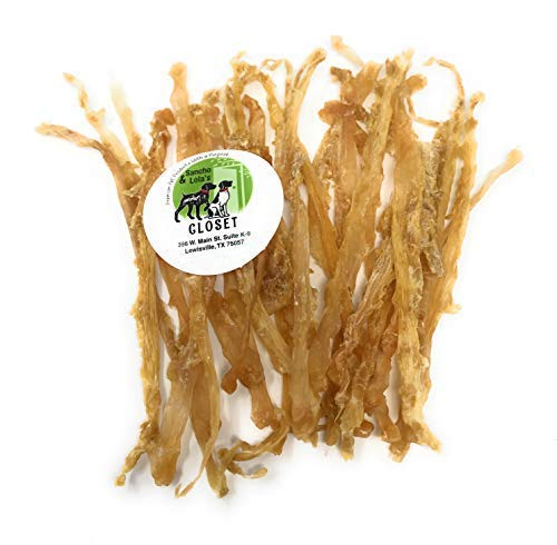 4oz Sancho & Lola's Smoked Turkey Tendons for Dogs - Single, Flat Tendon Rawhide Alternative Chews for Small Dogs - See Our Beef Tendons for Medium or Large Dogs