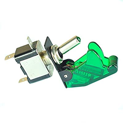 ESUPPORT Car Green Cover Green LED Toggle Switch: Automotive