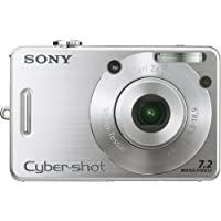Sony Cybershot DSCW70 7.2MP Digital Camera with  3x Optical Zoom