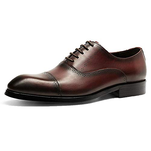 Pelle Scarpe Shoes Sposa Lace Oxford Red Uomo Punta Vernice Business Da In Up Marrone A 0PI8wdIq