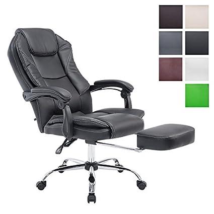 Bürostuhl CASTLE Fußablage Armlehne Chefsessel Drehstuhl Schreibtischstuhl Stuhl