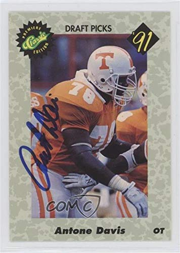 Pick 1500 (Antone Davis #/1,500 (Football Card) 1991 Classic Draft Picks - Autographs #ANDA)