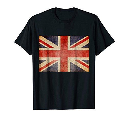 (Union Jack T-shirt Vintage UK Flag Tee British Retro Flag)