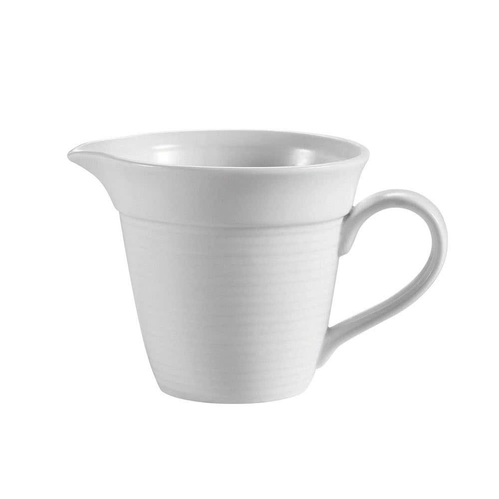 Tabletop King HMY-PC Harmony 4.5 oz. Super White Porcelain Creamer - 36/Case