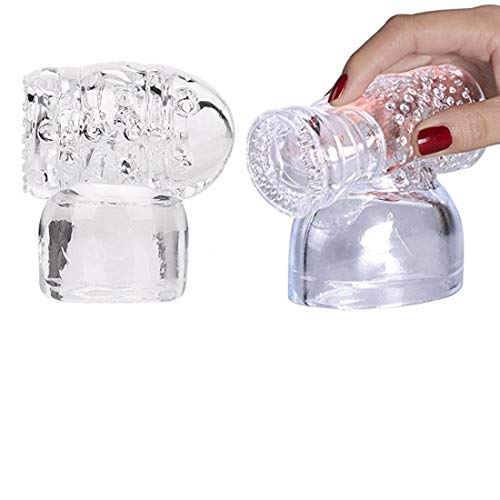 Massager Attachments, Massager Accessories Accessory Silicone- Two Different Styles (Clear) ()
