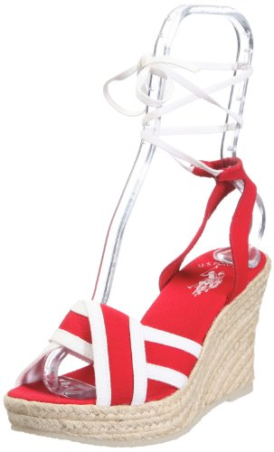 lino de S para Alena Sandalias Polo 4175S1 Canvas US7 57 Rojo mujer vestir de 490 U 7q4HPOq