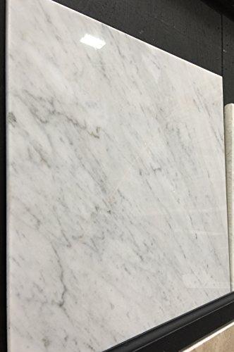 (Carrara Marble Italian White Bianco Carrera 18x18 Marble Tile Polished)