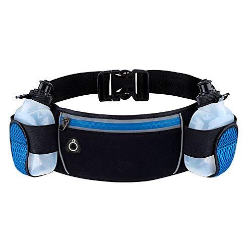 Timotech Cangurera para Cadera [Color Azul] Cinturón de Running con Botella de Agua (Incluidas) para Correr, Caminar o Gym