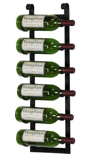 (VintageView Wall Series - Le Rustique 6 Bottle Wall Mounted Wine Rack Stylish Modern Wine Storage with Label Forward Design)