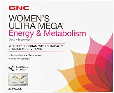 GNC Womens Ultra Mega Energy Metabolism Vitapak Program, 30 Packets