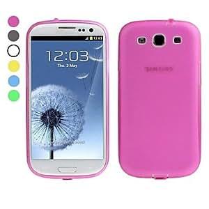 GX Teléfono Móvil Samsung - Cobertor Posterior - Color Sólido - para Samsung S3 I9300 ( Blanco/Verde/Amarillo/Gris/Rosa/Azul claro , Silicona ) , Rose