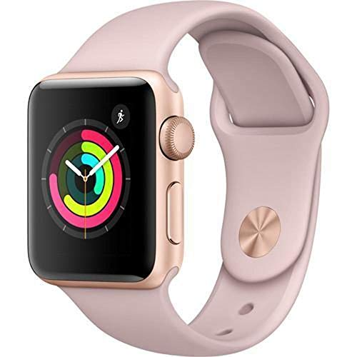 Apple Watch Series 3 (GPS, 38MM) – Gold Aluminum Case with Pink Sand Sport Band (Renewed)