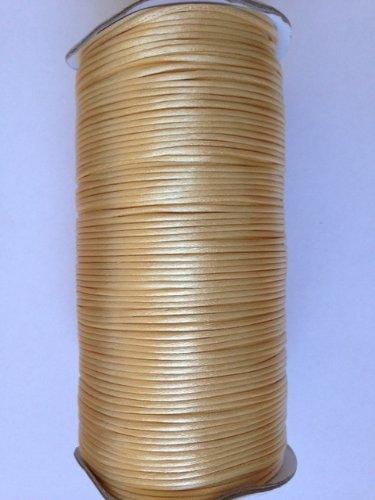 Kourtney's Crafts Tan Satin Rattail Nylon Cord 2mm 250yd/roll DIY