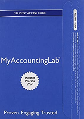 MyAccountingLab with Pearson eText -- Access Card -- for Horngren's Accounting, The Financial Chapters