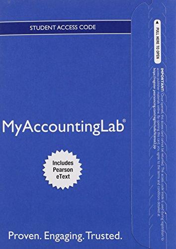 Download MyAccountingLab with Pearson eText -- Access Card -- for