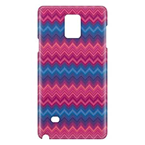 Loud Universe Samsung Galaxy Note 4 3D Wrap Around Cheveron Print Cover - Multi Color