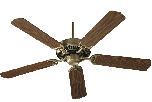 Antique Brass Finish Ceiling Fan (Quorum International 77525-4 Capri I 52-Inch Ceiling Fan, Antique Brass Finish with Reversible)