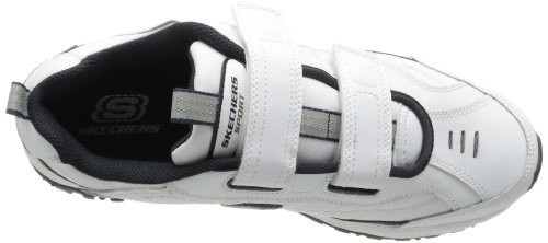 Skechers Sport Mens Fix Up Sneaker Bianco / Blu Scuro