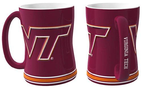 - Boelter Brands Virginia Tech Hokies Coffee Mug - 14oz Sculpted Relief