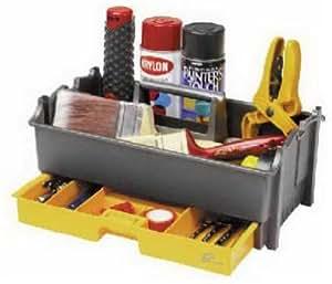 Amazon.com: Plano Molding 311 14-Inch Tote, Graphite Gray and Iron Yellow: Home Improvement