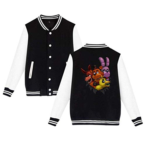 Cheeper Eletina Ds Five Nights at Freddy S Adults Baseball Uniform Jacket Sport Coat L (Fnaf Ds)