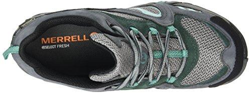 MerrellAzura Gtx - Zapatos de Low Rise Senderismo, Mujer Gris / Verde