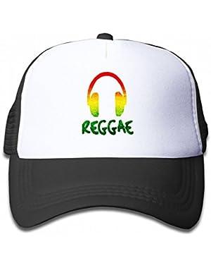 Reggae Music Jamaica Rasta Youth Toddler Mesh Hats Kid Baseball Trucker Cap