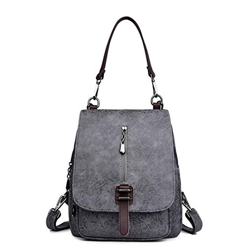Voyage bandoulière adolescentes sac dos filles cuir Gray Multifonction dos véritable Gensotrn en sac sac les xPpqPUwZ