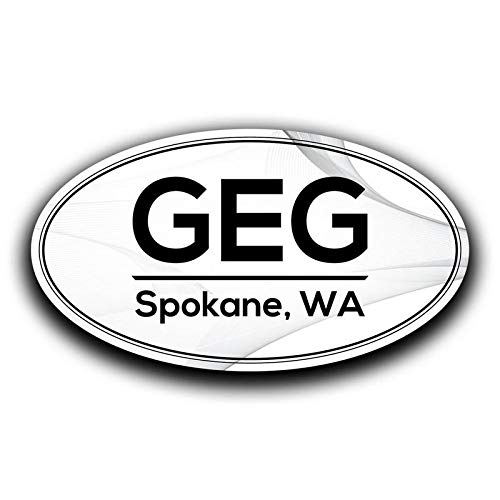 Two 5.5 Inch Decals More Shiz GEG Spokane Washington Airport Code Decal Sticker Home Travel Car Truck Van Bumper Window Laptop Cup Wall MKS0566