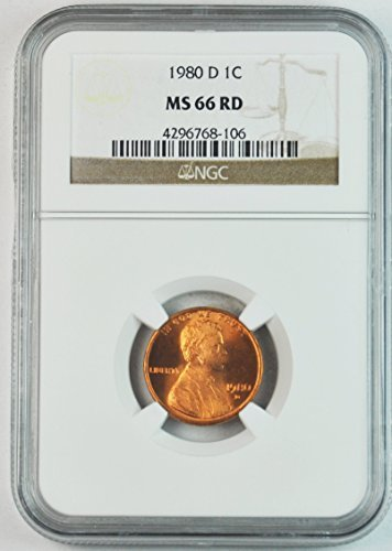 1980 D Lincoln Memorial Cent Brilliant Uncirculated Denver Penny MS66 NGC RD