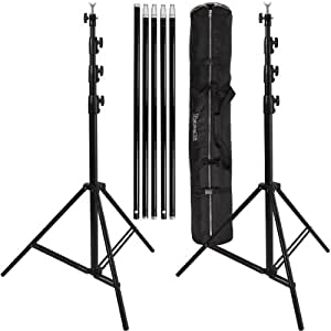 Ravelli ABSL Photo Video Backdrop Stand Kit 13' Tall x 15' Wide with Dual Air Cushion Stands and Bag