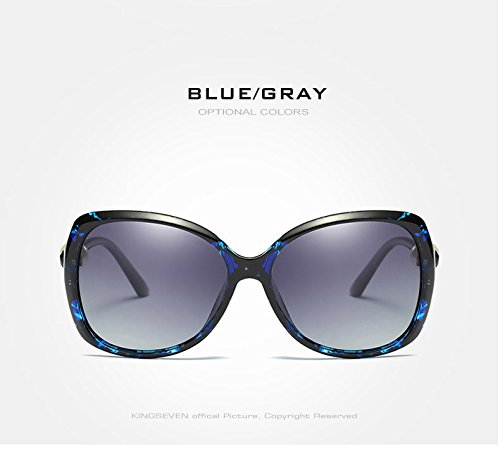 Sra Polarizadas Azul Solla Dama Mujer Gris De Gafas Azul Limotai del Elegante Gafas gris Tono Modificada Gafas Perla q0xtfUE
