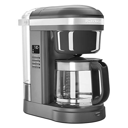 KitchenAid KCM1208DG Spiral Showerhead 12 Cup Drip Coffee Maker, Matte Charcoal Grey