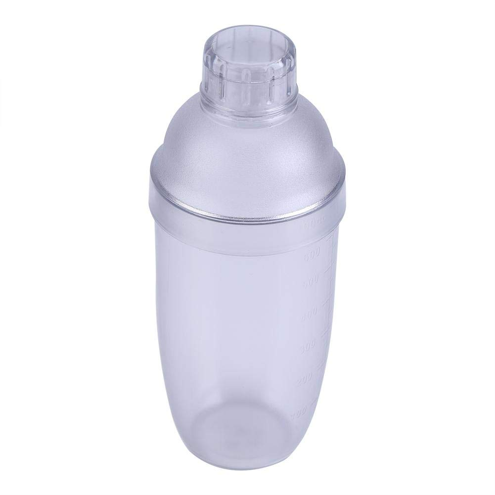 700cc Duradera Anti-fuga Transparente PC Resina Transparente Barra agitadora Herramienta para Leche T/é Agua Caf/é C/óctel Bebida Vino Home Bar Cocina Botella agitadora