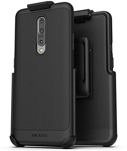 Encased OnePlus 7 Pro Belt Clip Case (Thin Armor) Slim Grip Cover with Holster - Black